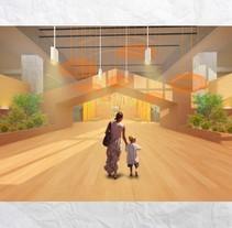 Centro de Día para Aldeas Infantiles. Un proyecto de 3D, Arquitectura interior y Diseño de interiores de Araceli Muñoz         - 01.12.2015
