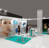Diseño Stand Infinitec. Un proyecto de Publicidad, 3D, Br e ing e Identidad de Quique Cestrilli - 27-12-2014