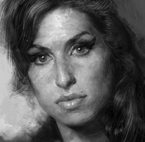 Amy. A Fine Art, Illustration, and Painting project by Adrià Llarch - 12.07.2015