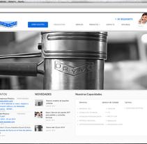 diseño WEB para la empresa:  ORYMO S.A . A Web Design project by David Tro Santafe         - 08.12.2015