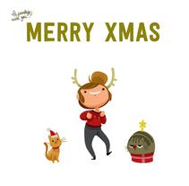 Animated GIF Merry Xmas!. Um projeto de Animação de Núria  Aparicio Marcos         - 17.12.2015