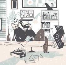 REVISTA GENTLEMAN. Tecnología. Un proyecto de Ilustración y Diseño editorial de Del Hambre  - 22-12-2015