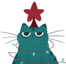 Merry Christcats. A Illustration project by Núria  Aparicio Marcos - 26-12-2015