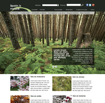 Spain is Nature (web dedicada al turismo de naturaleza). A Web Design project by Marta Rico Ruiz         - 29.12.2015