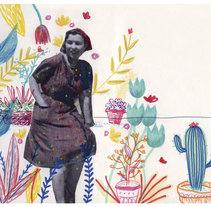 Mar de flores. A Illustration project by Esther Bernal López - 29-12-2015