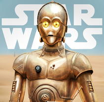 C-3PO (Star Wars). A Illustration project by Jose Morell - 02-01-2016
