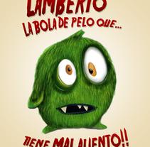 Lamberto, la bola de pelo que tiene mal aliento.. A Design, Illustration, Character Design, and Comic project by Pepe Belda Parres         - 03.01.2016