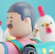 USBEK & RICA. A Design, Illustration, 3D, and Art Direction project by Aarón Martínez - 11-11-2015