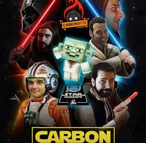 Carbonbyte The Force Awakens. A Illustration, Character Design, Painting, and Film project by Jorge M. Hernández Alférez         - 04.12.2015