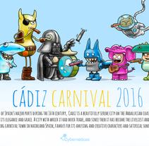 Carnaval de Cádiz. A Illustration, Art Direction, and Character Design project by Daniel RGB         - 20.01.2016