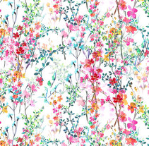 all over prints -florals-. A Illustration project by Sol  Galiano Vadillo - 01.25.2016