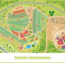Mapas camping. A Graphic Design project by Núria Grau López         - 25.01.2016
