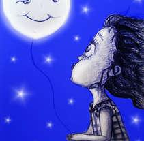 Ilustración infantil... La Luna y yo. Um projeto de Ilustração de Sara Caro         - 27.01.2016