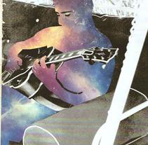 #guitarrista estelar. Un proyecto de Collage e Ilustración de Paco Campos Pérez - Martes, 09 de febrero de 2016 00:00:00 +0100