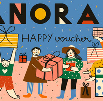 ANORAK Happy Voucher. A Illustration project by Inma Lorente         - 14.02.2016