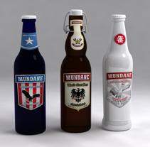 Cerveza Mundane. Um projeto de 3D, Br, ing e Identidade, Design gráfico, Packaging e Design de produtos de Gabriel Delfino - 31-07-2009