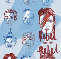 Rebel, Rebel (1974, Diamond Dogs). A Design, Illustration, Fine Art, and Calligraph project by Carolina Jiménez Domínguez         - 10.02.2016