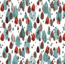 LLuvia. Un proyecto de Diseño, Ilustración, Diseño de vestuario, Moda, Bellas Artes y Serigrafía de clauloncar         - 18.02.2016