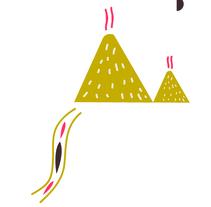 El bosque, el río y la montaña. Un proyecto de Diseño e Ilustración de Lorena Franzoni  - 06-09-2015