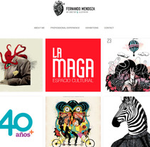 Portfolio Fernando Mendoza Ilustrando ideas. A Web Design project by Fernando Mendoza  - Mar 11 2016 12:00 AM