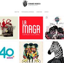 Portfolio Fernando Mendoza Ilustrando ideas. A Web Design project by Fernando Mendoza  - 10-03-2016
