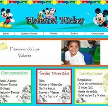 Página Web Escolar. Un proyecto de Diseño Web y Desarrollo Web de bianca_pt         - 13.09.2012