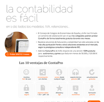 Anfix plataforma contabilidad (cloud service). A Information Architecture, Creative Consulting, Design, Interactive Design, and Web Design project by Maria Luisa Rivero Rodriguez - Apr 16 2016 12:00 AM