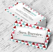 Tarjetas personales. Un proyecto de Diseño gráfico de Sara Barreiro         - 26.03.2016