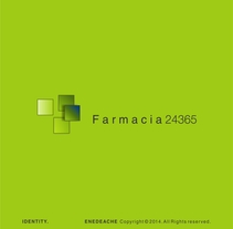 FARMACIA 24365 // Corporate identity. A Br, ing, Identit, and Graphic Design project by Enedeache          - 04.04.2016