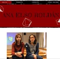 web portfolio. Um projeto de Design gráfico de Ana Elso Roldán         - 05.04.2016