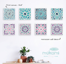 Moroccan canvases wall decor by Mokami Design. A Design, Crafts, and Product Design project by Noel del Mar         - 07.04.2016