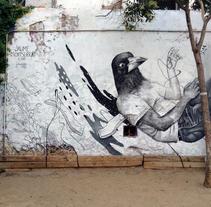Mural: Centro Cívico Guinardó. Un proyecto de Bellas Artes, Pintura y Arte urbano de Jaume Montserrat         - 07.04.2016