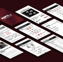 ESPN Sports App. A Interactive Design project by Manuela Schmidt Silva         - 31.01.2014