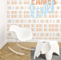 Diseño papel pintado habitación infantil. Um projeto de Design, 3D, Design gráfico e Design de interiores de AnaBelenCorredera         - 21.04.2016