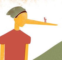 Postales Homenaje. Roberto Innocenti. . Um projeto de Ilustração de Pablo Gomez         - 25.04.2016