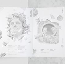 ATRIO BIANCO | Menu Bianco Osteria . Un proyecto de Ilustración, Dirección de arte y Diseño editorial de Juan Camilo  Castillo Perea - Miércoles, 27 de abril de 2016 00:00:00 +0200
