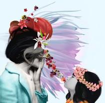 Collage para Floristería Santa Rita . Un proyecto de Diseño, Ilustración, Bellas Artes y Collage de Nuria González Fernández         - 16.05.2016