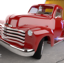 Chevrolet Pickup 1950 | Maya, Arnold, Photoshop. A 3D project by Paco Ruiz - 29-02-2016
