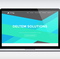 WEB DESIGN FOR DELTEM SOLUTIONS. A Web Design project by Isabel Saez Perez - 13-12-2014
