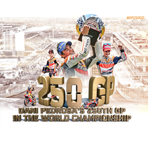Gráfica Pedrosa 250 GP. Un proyecto de Diseño de Yon González de Amezúa         - 31.05.2016