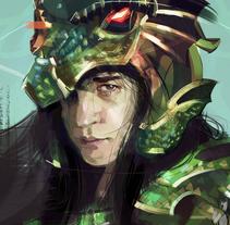 Caballero del Dragon / Shiryu. Un proyecto de Ilustración, Animación y Pintura de Ismael Alabado Rodriguez - Jueves, 02 de junio de 2016 00:00:00 +0200