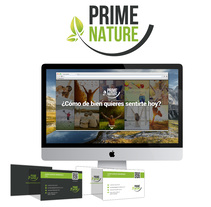 Prime Nature. Diseño imagen corporativa y web. A Art Direction project by Omar Benyakhlef Domínguez - 03.16.2016