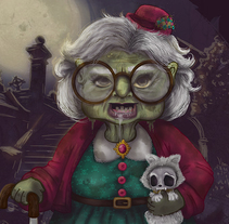 ZOMBIE GRANDMA! . A Illustration project by Vane Otero - 21-06-2016