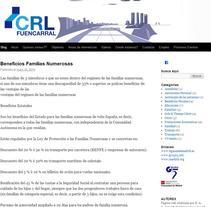 Pagina Web de CRL Fuencal. Um projeto de Web design e Desenvolvimento Web de Jorge Pallol         - 26.06.2016