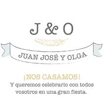Invitación boda. Un proyecto de Diseño gráfico de Rocío González         - 30.04.2016
