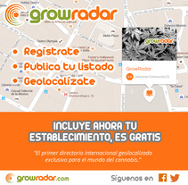 Growradar.com - Directorio de grow shops. A Web Design, and Web Development project by Juan Bares - 07-07-2016