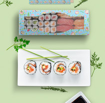 Packaging Sushi- Motivos para repetir. A Cooking, Graphic Design, Packaging, and Pattern design project by Diana Silva Andrade - 11-07-2016