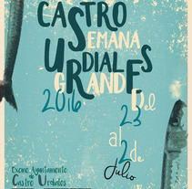 Cartel Fiestas Castro. A Graphic Design project by Eva Díez - 12-07-2016