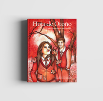 "Portada de la Novela ""Hoja de Otoño"". A Illustration, Editorial Design, and Fine Art project by Vanessa Arraña Diaz         - 31.07.2016"