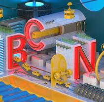 BCN - Mi Proyecto del curso: Dirección de Arte con Cinema 4D. A 3D project by tomo - 08-08-2016